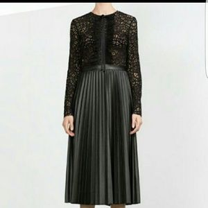 ZARA Leather and Lace dress